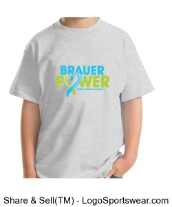 Ash Grey Youth Brower Power T-Shirt Design Zoom