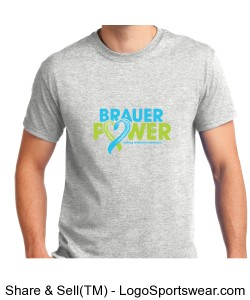 Ash Grey Adult Brauer Power T-Shirt Design Zoom